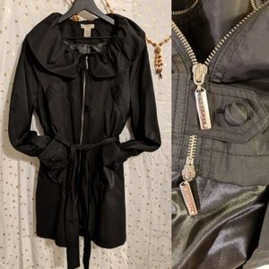 Vertigo Paris Black Trench Coat 🖤 NWT 🖤 Perfect!
